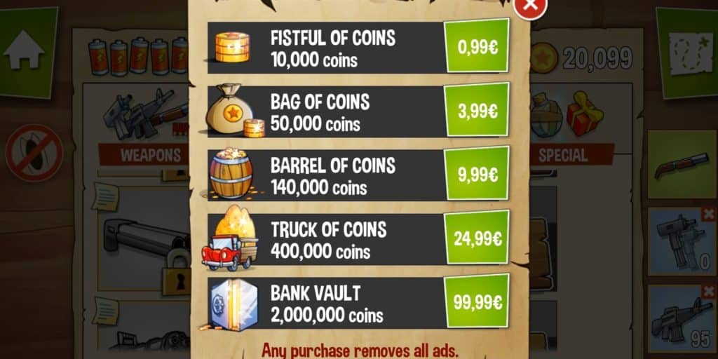 Swamp Attack Coin Packages