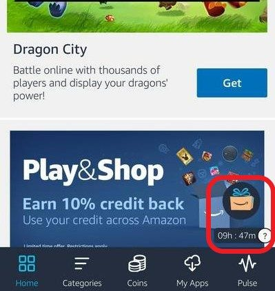 Collect Amazon Coins in the Amazon Appstore